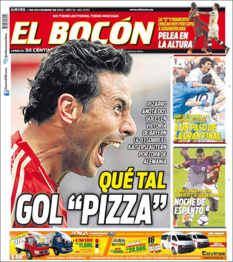 Periódico El Bocón Perú Periódicos De Perú Edición De Jueves 1