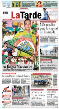Portada de La Tarde (Colombia)