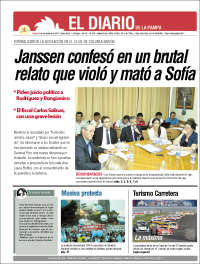 Portada de Diario de La Pampa (Argentina)