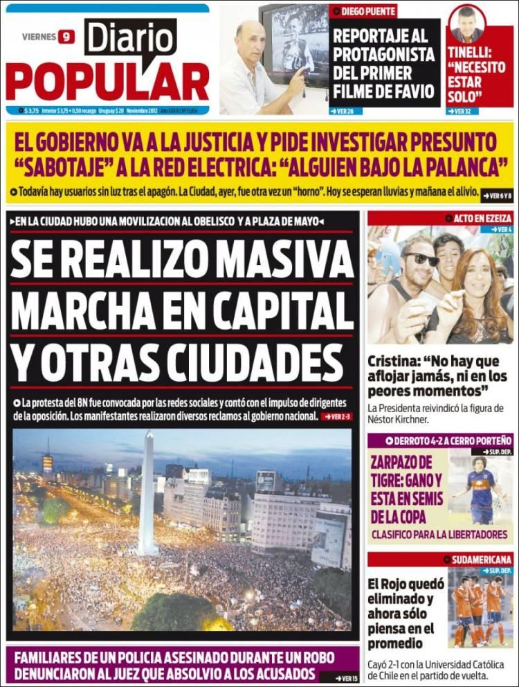tapas de diarios segun pauta oficial yapa taringa On diario popular espectaculos hoy