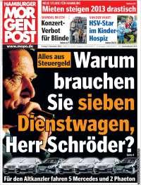 Portada de Hamburger Morgenpost  (Alemania)