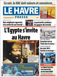 Portada de Le Havre Presse (Francia)