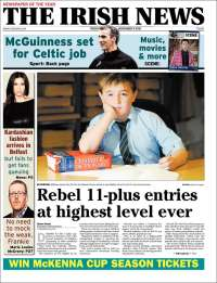 Portada de The Irish News (Irlanda)