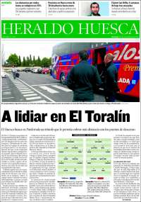 Portada de Heraldo de Huesca (España)