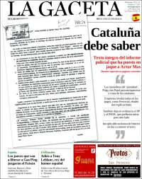 Portada de La Gaceta (España)