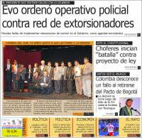 Portada de Correo Sur (Bolivia)