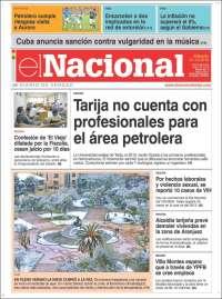 Portada de El Nacional (Bolivia)