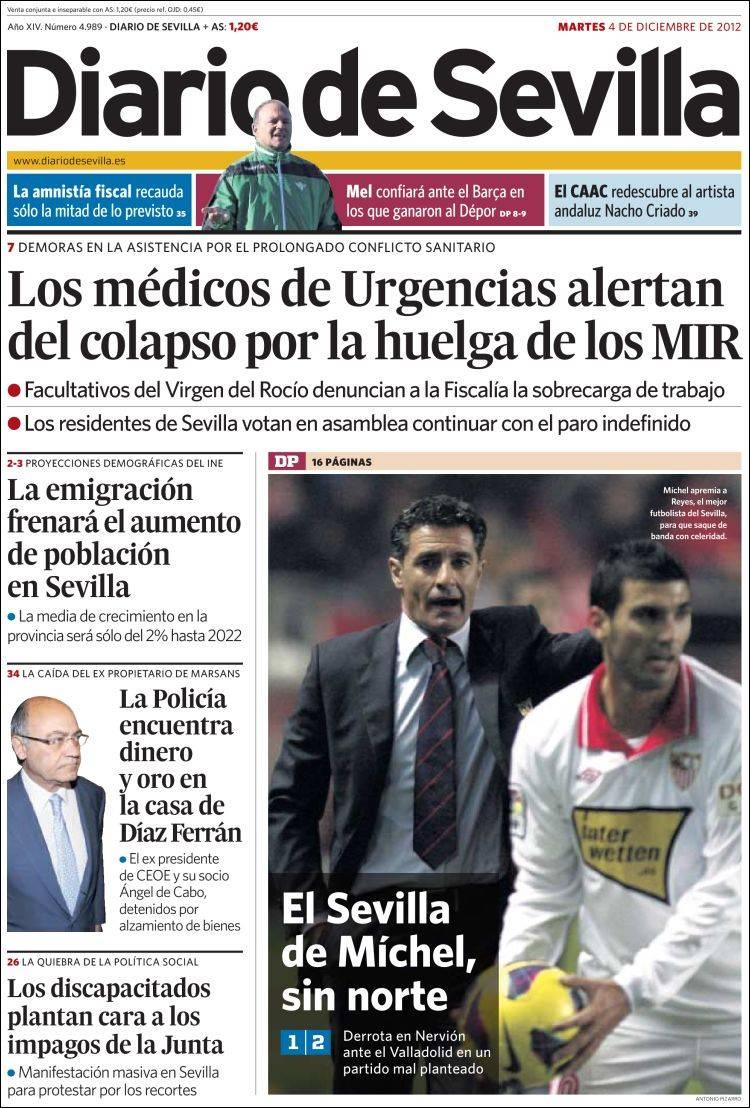 Peri Dico Diario De Sevilla Espa A Peri Dicos De Espa A