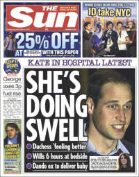 Portada de The Sun (United Kingdom)