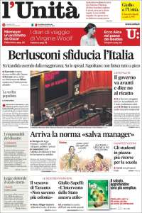 Portada de l'Unità (Italie)