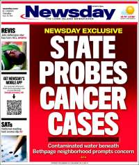 Portada de Newsday (USA)